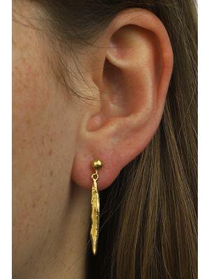 18 Kt vergulde zilveren ONNO oorsteker | OS0126PL | thumbnail image