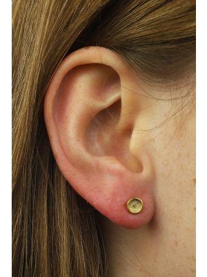 18 Kt vergulde zilveren ONNO oorsteker | OS0256PL | thumbnail image