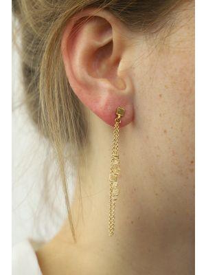 18 Kt vergulde zilveren ONNO oorsteker | OS0289PL | thumbnail image