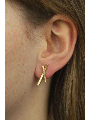 18 Kt gouden ONNO oorsteker | OS0355AUG | thumbnail image