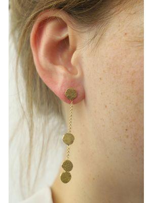 18 Kt vergulde zilveren ONNO oorsteker | OS0356PL | thumbnail image