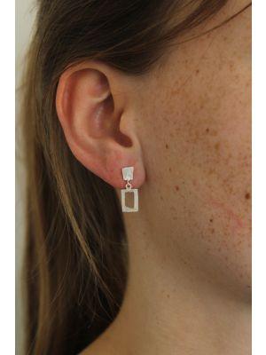 Zilveren ONNO oorsteker | OS0372RH | thumbnail image