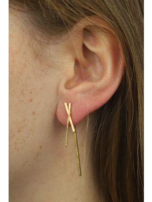 18 Kt vergulde zilveren ONNO oorsteker | OS0381PL | thumbnail image