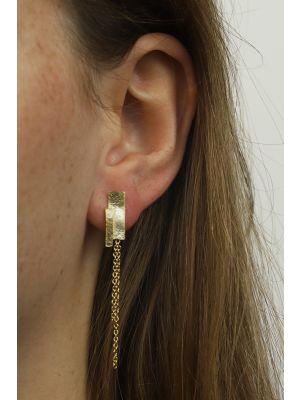 18 Kt vergulde zilveren ONNO oorsteker | OS0383PL | thumbnail image