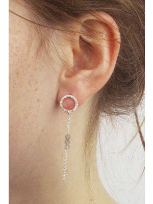 Zilveren ONNO oorsteker | OS0395L | small image