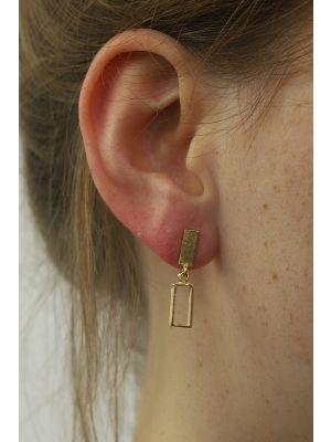 18 Kt vergulde zilveren ONNO oorsteker | OS0397PL | small image