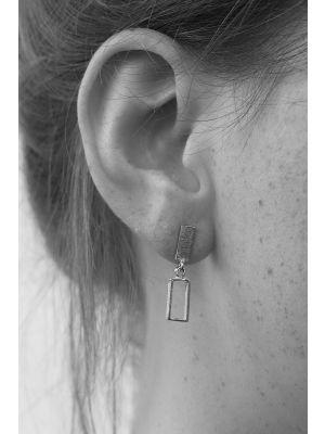 Zilveren ONNO oorsteker met rhodium | OS0397RH | small image