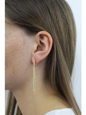 18 Kt vergulde zilveren ONNO oorsteker | OS0403PL | small image