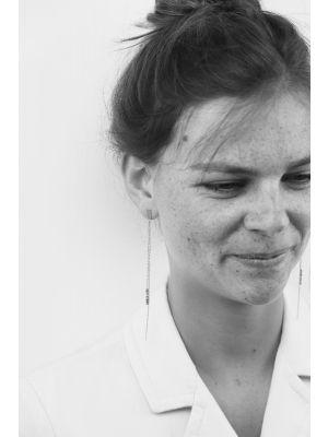 Zilveren ONNO oorsteker met rhodium | OS0405RH | small image