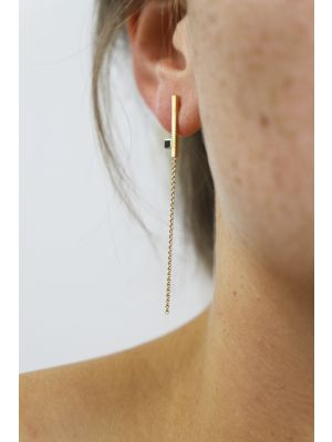 18 Kt gouden ONNO oorsteker | OS0407AUG | small image