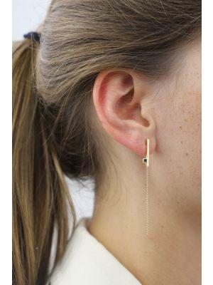 18 Kt vergulde zilveren ONNO oorsteker | OS0407PL | small image
