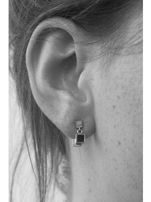 Zilveren ONNO oorsteker met rhodium | OS0409RH | small image