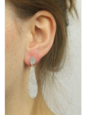 Zilveren ONNO oorsteker met rhodium | OS0411RH | small image