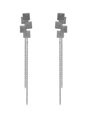Zilveren ONNO oorsteker met rhodium | OS0413RH | small image