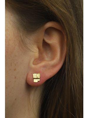 18 Kt vergulde zilveren ONNO oorsteker | OS0414PL | small image