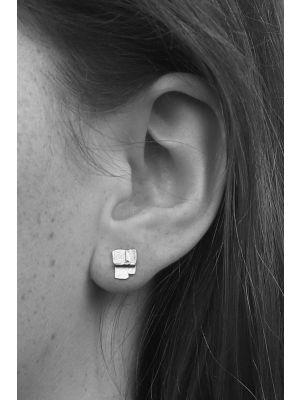 Zilveren ONNO oorsteker met rhodium | OS0414RH | small image