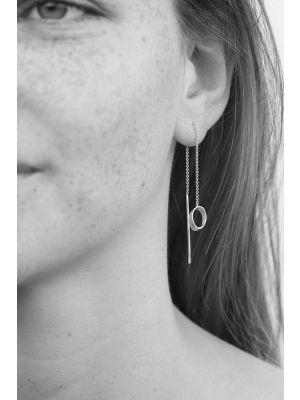 Zilveren ONNO oorsteker met rhodium | OS0420RH | small image