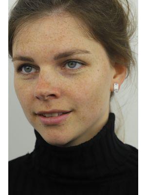 Zilveren ONNO oorsteker met rhodium | OS0422RH | small image