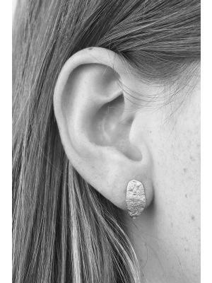 Zilveren ONNO oorsteker met rhodium | OS0423RH | small image