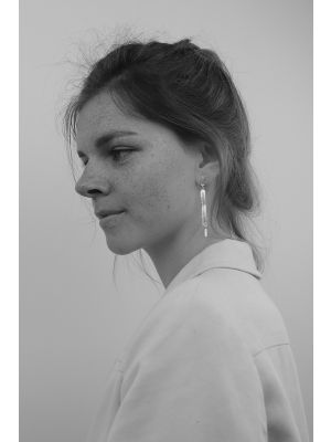 Zilveren ONNO oorsteker met rhodium | OS0424RH | small image