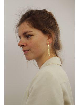 18 Kt vergulde zilveren ONNO oorsteker | OS0424PL | small image