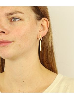 18 Kt vergulde zilveren ONNO oorsteker | OS0428PL | small image