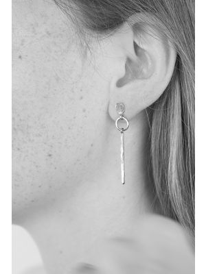 Zilveren ONNO oorsteker met rhodium | OS0428RH | small image