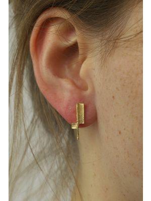 18 Kt vergulde zilveren ONNO oorsteker | OS0430PL | small image