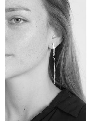Zilveren ONNO oorsteker met rhodium | OS0432RH | small image