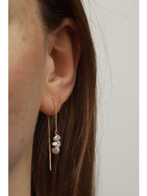 18 Kt gouden ONNO oorsteker | OS0433AUG