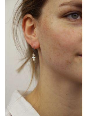 Zilveren ONNO oorsteker met rhodium | OS0433RH