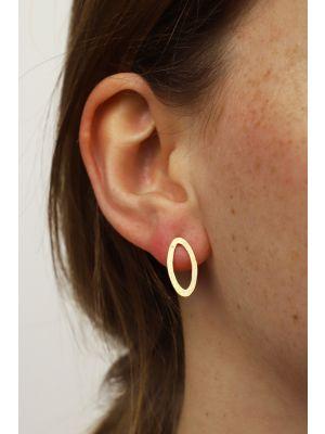 18 Kt vergulde zilveren ONNO oorsteker | OS0434PL