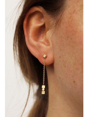 18 Kt vergulde zilveren ONNO oorsteker | OS0437PL