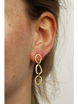 18 Kt vergulde zilveren ONNO oorsteker | OS0438PL