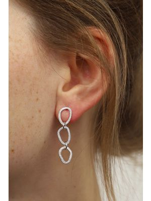 Zilveren ONNO oorsteker met rhodium | OS0438RH