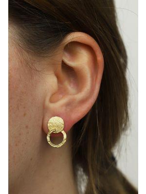 18 Kt vergulde zilveren ONNO oorsteker | OS0439PL