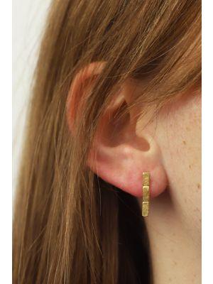18 Kt vergulde zilveren ONNO oorsteker | OS0441PL