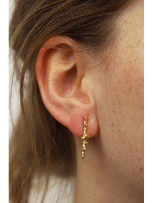 18 Kt vergulde zilveren ONNO oorsteker | OS0443PL