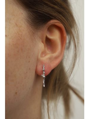 Zilveren ONNO oorsteker met rhodium | OS0443RH