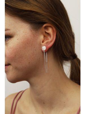 Zilveren ONNO oorsteker met rhodium | OS0444RH