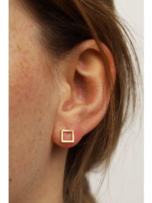 18 Kt vergulde zilveren ONNO oorsteker | OS0445PL