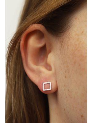 Zilveren ONNO oorsteker met rhodium | OS0447RH