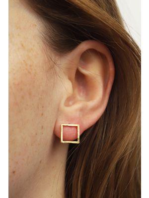 18 Kt vergulde zilveren ONNO oorsteker | OS0446PL