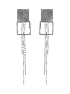 Zilveren ONNO oorsteker met rhodium | OS0448RH