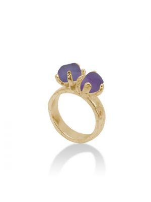 18 Kt vergulde zilveren ONNO ring | R0164APL | thumbnail image