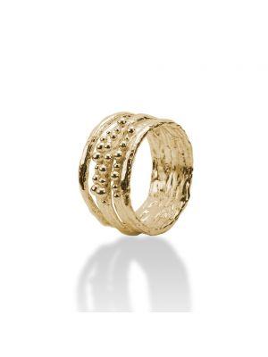 18 Kt vergulde zilveren ONNO ring | R0190PL | thumbnail image