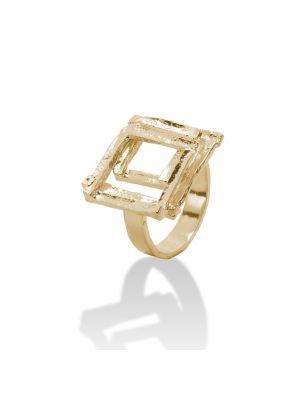 18 Kt vergulde zilveren ONNO ring | R0226PL | thumbnail image