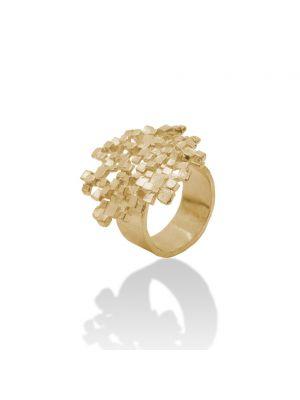 18 Kt vergulde zilveren ONNO ring | R0278PL | thumbnail image