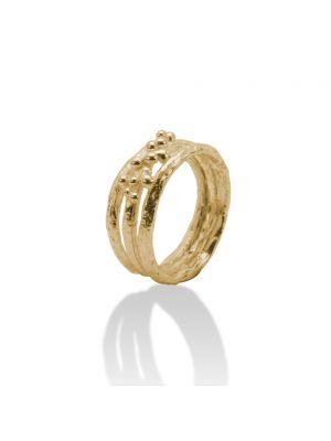 18 Kt vergulde zilveren ONNO ring | R0293PL | thumbnail image