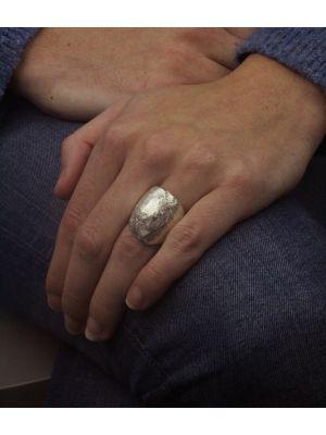 Zilveren ONNO ring met rhodium | R0344RH | small image